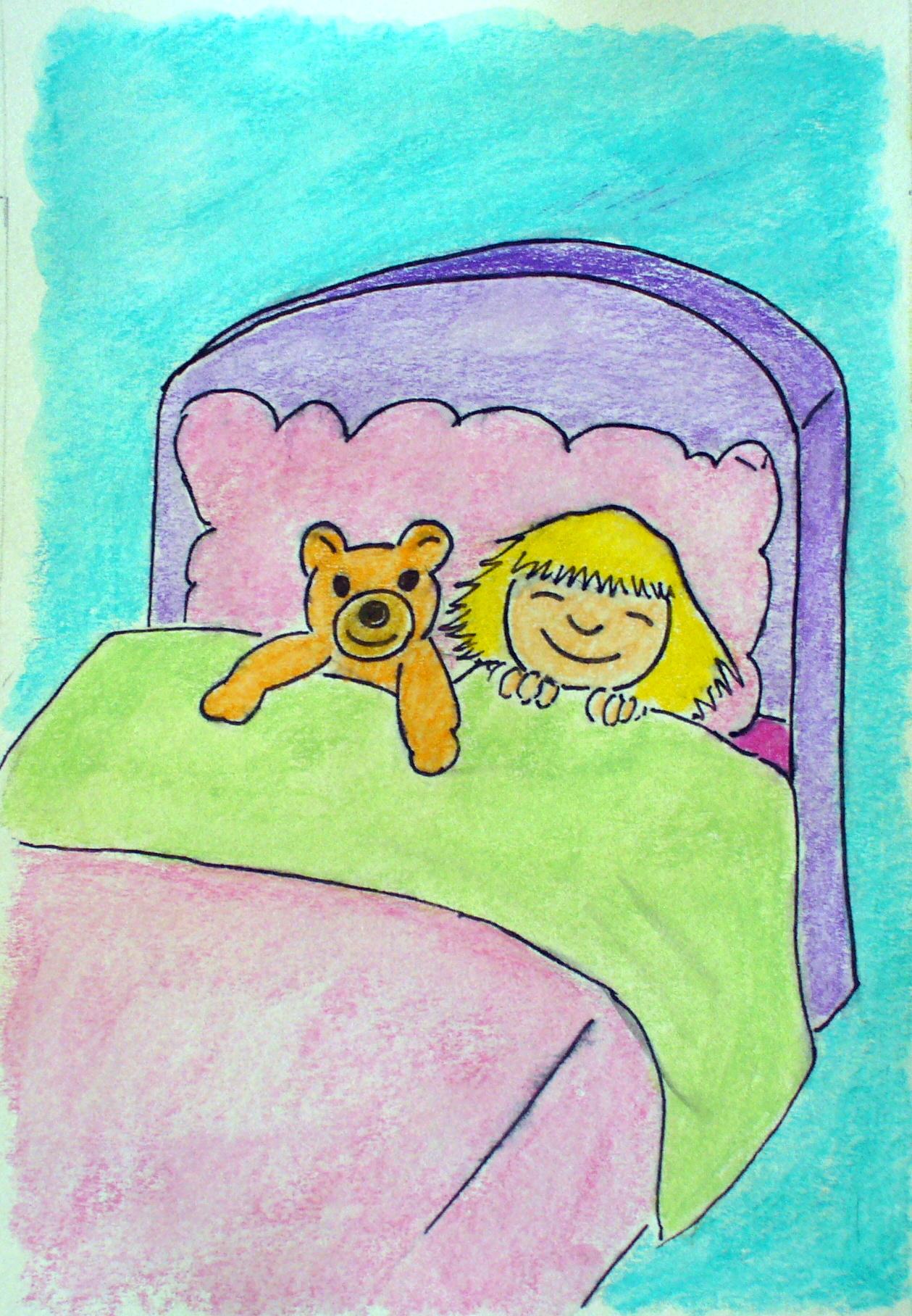 bambina e orsetto